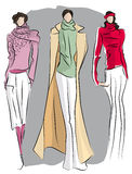 Sketch of fashion suits stock illustration