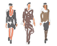Sketch Fashion Women Royalty Free Stock Image