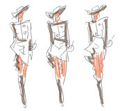 Sketch Fashion - women Royalty Free Stock Image