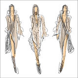 Sketch Fashion - women Stock Photography