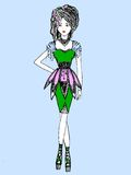 Sketch of fashionable dresses Stock Images