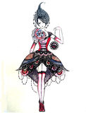 Sketch of fashionable dresses Royalty Free Stock Image