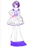Sketch of fashionable dresses Royalty Free Stock Photo