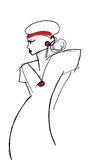 fashion sketch Stock Photography