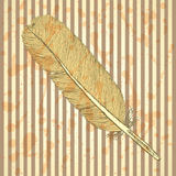 Sketch feather,  vintage background Royalty Free Stock Image