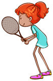 A sketch of a female tennis player Royalty Free Stock Images