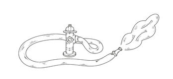 Sketch, fire hydrant. Sketch of the fire hydrant on white background, vector Stock Photo