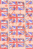 Sketch flag of UK, vector seamless pattern Royalty Free Stock Photos