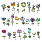 Sketch of floral elements for your design Stock Image