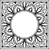 Sketch for floral frame. Stock Photography