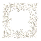 Sketch of floral frame for your design Royalty Free Stock Image