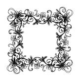 Sketch of floral frame for your design Stock Photos