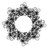 Sketch of floral frame for your design Stock Images