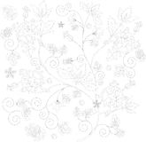 Sketch of floral ornament Royalty Free Stock Photography