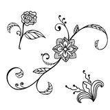 Sketch floral ornament Stock Photography