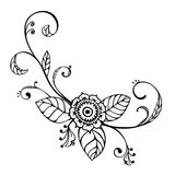 Sketch floral ornament Stock Images
