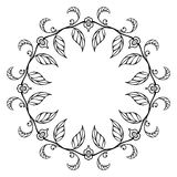 Sketch floral ornament Royalty Free Stock Photography
