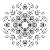 Sketch floral ornament Royalty Free Stock Images