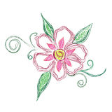 Sketch, floral, ornament, vector, illustration Royalty Free Stock Image