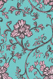 Sketch floral pattern Stock Image