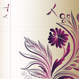 Sketch flower background Stock Photos