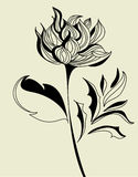 Sketch with flowers. Universal template for greeting card, web page, backgroun Royalty Free Stock Photography