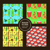 Sketch food pattern in vintage style Royalty Free Stock Images