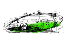 Sketch on a football Royalty Free Stock Images