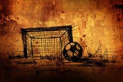 Sketch on a football Stock Photos