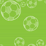 Sketch of the football ball Stock Images