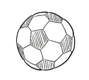 Sketch of the football ball Stock Photography