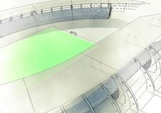 Sketch football sstadium Royalty Free Stock Photo