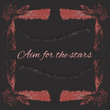 Sketch Frame Aim for the stars. Banner card Stock Photography
