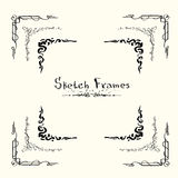 Sketch Frame Collection Hand Draw Vintage Stock Photo