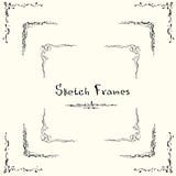 Sketch Frame Collection Hand Draw Vintage Royalty Free Stock Photos