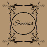 Sketch Frame Success floral. Banner card Stock Photography