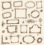 Sketch of frames, hand drawing Royalty Free Stock Image