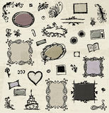 Sketch of frames, hand drawing for your design Royalty Free Stock Image