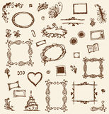 Sketch of frames, hand drawing for your design Stock Photos
