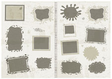 Sketch of frames, hand drawing for your design Royalty Free Stock Photos