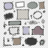 Sketch of frames, hand drawing for your design Stock Photography