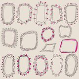 Sketch of frames, hand drawing for your design. Stock Image