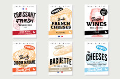 Sketch French Food Brochures Royalty Free Stock Photography