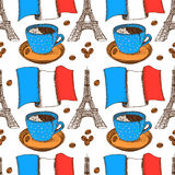 Sketch French pattern in vintage style Royalty Free Stock Photo