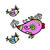 Sketch of funny fishes for your design Royalty Free Stock Photos