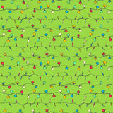 Sketch garlands on green background. Seamless pattern for your design Royalty Free Stock Photography