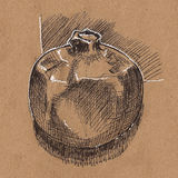 Sketch of garnet. Illustration Royalty Free Stock Image