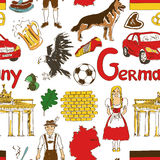 Sketch Germany seamless pattern Stock Photography