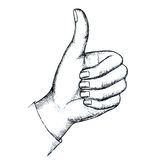 Sketch, gesture Royalty Free Stock Photo