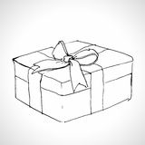 Sketch gift box Stock Image